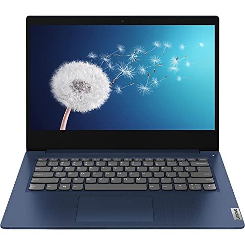 "2021 Newest Lenovo IdeaPad 3 Laptop, 14"" Full HD 1080P Non-Touch Display, AMD Ryzen 3 3250U Processor, 12GB DDR4 Memory, 256GB SSD, Webcam, HDMI, Wi-Fi, Bluetooth, Windows 10 Home, KKE Mousepad, Blue"