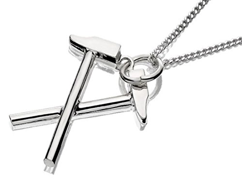 Sterling Silver West Ham FC Crossed Hammers Pendant And Chain