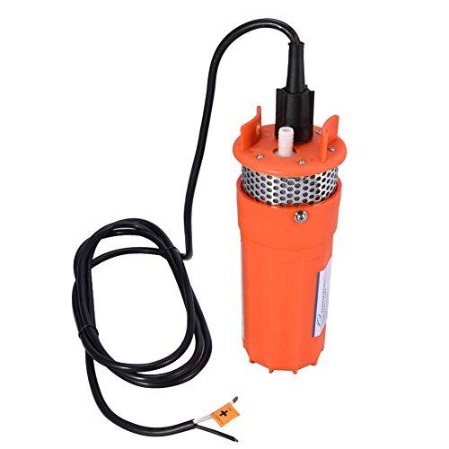 Dompelpomp van kunststof, waterpomp op zonne-energie, 12 V, waterpomp, hoge debiet 6,5 l/min, diepe bronpomp met maximale diepte van 30 m.