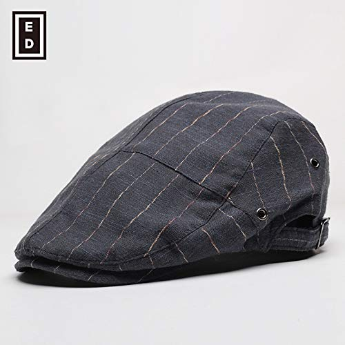 sdssup Sommer dünner Hut männliche Kappe weibliche Baskenmütze dunkelblau einstellbar