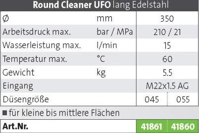Kränzle Round Cleaner UFO Edelstahl, 045 - 2