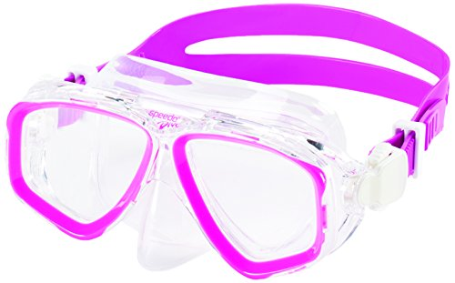 Speedo Unisex-Youth Adventure Swim Mask Junior , Pink Frost