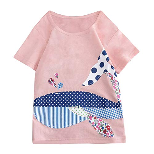 Peuter Kids Pasen Prinses T-shirt - Baby Meisjes Korte mouw Cartoon Gedrukt O-hals Tops T-Shirt Blouse Jurk