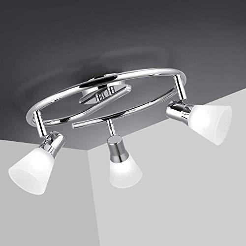 Albrillo Faretti LED da Soffitto Orientabili - 3 Lampadine G9 da 5 W, Plafoniera con Paralume in Acrilico e Portalampada in Acciaio Inossidabile, lampada da Parete per Sala, Camera da letto, IP20