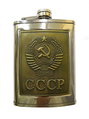 Flachmann Bronze Wappen UDSSR 230 ml Edelstahl / CCCP