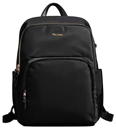 Fashion Laptop Backpack Purse for Women Business Travel Shoulder School Bag,Black fit 14.1 inch