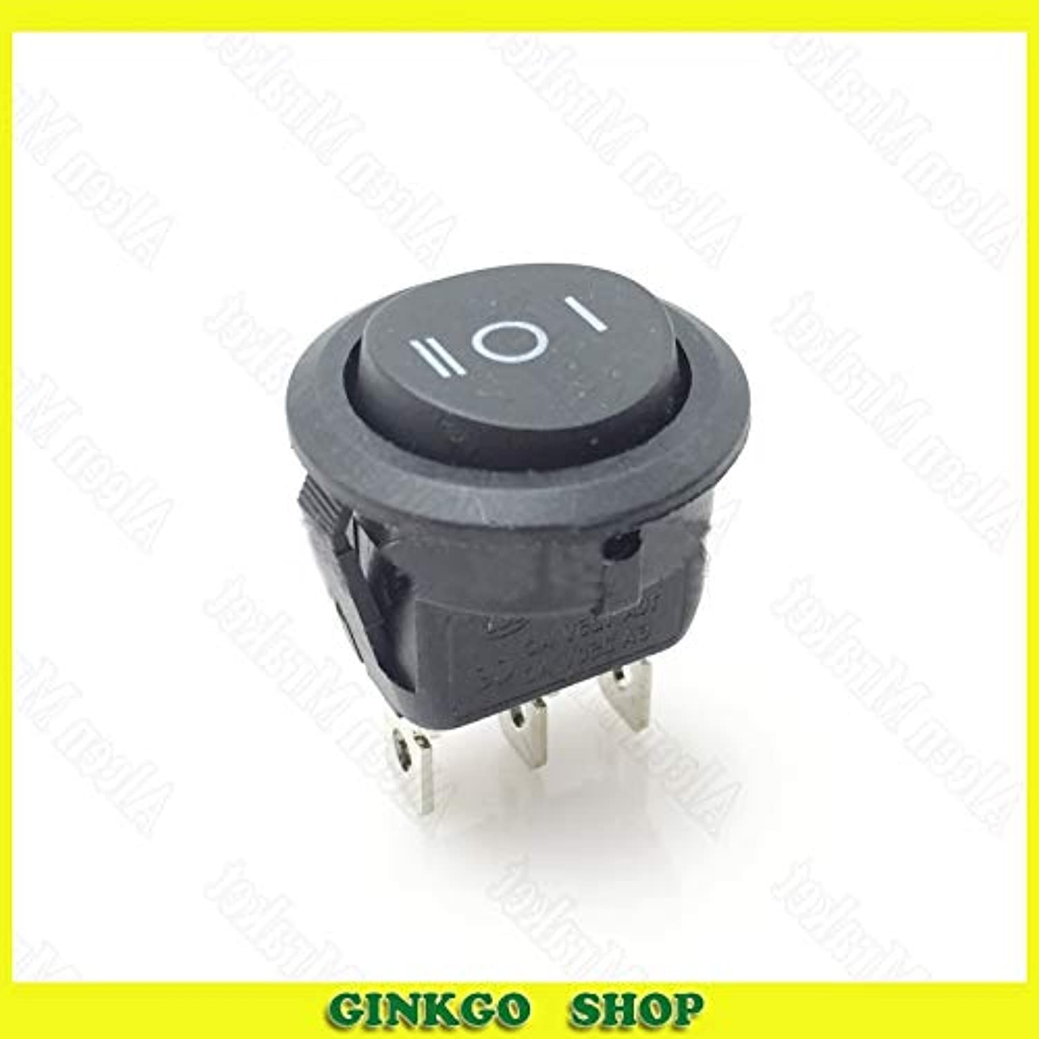 300pcs lot KCD12 Round Rocker Power Switch Black 3File 3Foot Up Round Down Square 3P Switch