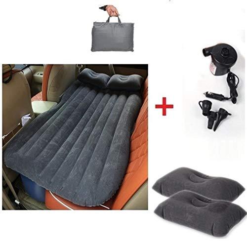 Auto-luchtmatras, auto-airconditioning, autostoelbekleding, reisbed, matras, autocamping, goede kwaliteit, matras, gestoffeerd bed (kaki) Eén maat geel