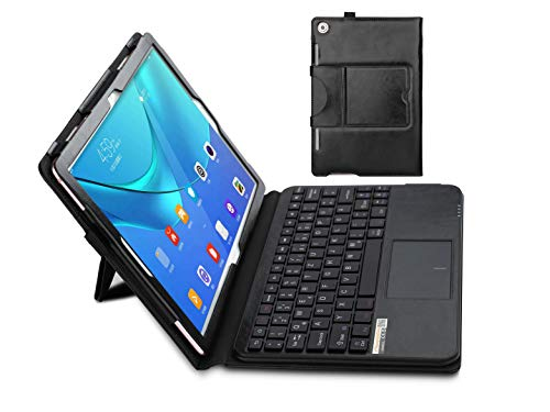 MQ-Power - Funda con teclado Bluetooth para Huawei M5 10.8 (con Touchpad para Huawei MediaPad M5 10.8, MediaPad M5 10.8, MediaPad M5 Pro 10.8 LTE | Touchpad teclado alemán QWERTZ
