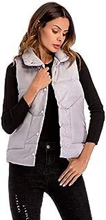 YIBEIANYU Cotton Vest Vest Short Paragraph Women's Single-breasted Loose Sleeveless Vest Jacket Wild