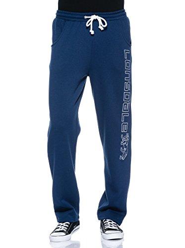 Lonsdale Hose Rock Stonesfield Pantalons Homme, Bleu-Bleu Roi, L