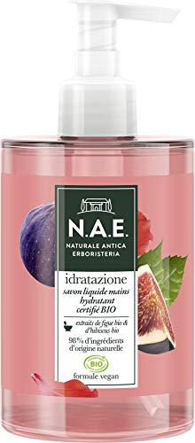 N.A.E. - Savon Liquide Mains - Certifié Bio - Hydratant - Idratazione - Formule Vegan - 98 % d'ingrédients d'origine naturelle - Contenant de 300 ml
