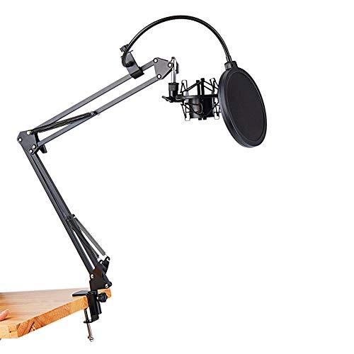 Microfoon Schaar Arm Stand, Opvouwbaar, gemakkelijk te dragen, met grote Blowout Preventie, Voor de meeste condensator Microfoons