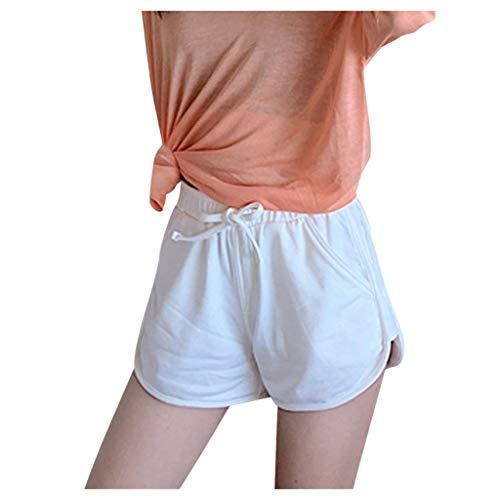 Weilov Lady Taille Haute Femmes Yoga Sport Pantalon De Course Shorts Fitness Pantalon Décontracté Confortable Tenue décontractée Running Workout Sportswear