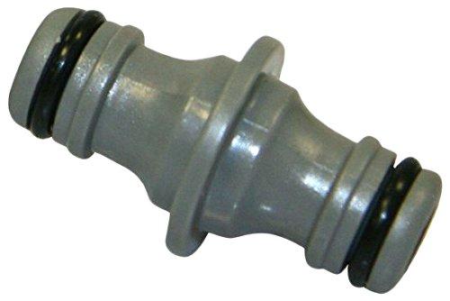 Xclou 346112 slangaansluiting voor tuinslang 13 mm - verbindingsstuk voor slang 1/2 inch ventielen en verbindingen, grijs, 5x0,13x2,8 cm