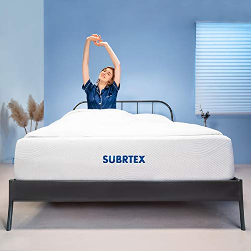 Subrtex 12 Inch Full Mattress Gel Memory Foam Mattress with Removable Soft Cover Thick Breathable Full Body Support Cooling Mattress Pad CertiPUR-US Bed in A Box (Full, 12-inch)
