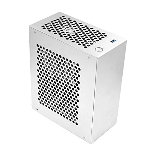 Obokidly DIY S3 Mini ITX PC Gaming Case Small Case All Aluminum Suitcase Portable HTPC Desktop With PIC-E 3.0x16 Cable;Support 1U Module Power Supply (Only Computer Case)