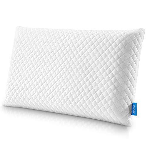 NOFFA orthopedisch neksteunkussen van visco-elastisch latex schuim, ergonomisch nekkussen, pijnverlichting slaapkussen met anti-allergie tencel kussensloop (70 x 38 cm)