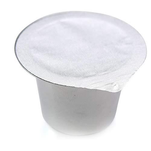 CDKJ 100pcs Aluminiumdeckel Espressoklebefolie, Aluminiumkappe Dichtungen sind kompatibel mit Nespresso Kaffeekapseln für Mehrweg-Foliendichtung.