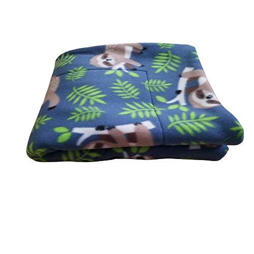 "Guinea Pig Fleece Cage Liner | Midwest Cage Liner | 47""x24"" | Guinea Pig Bedding | Hedgehog Fleece | Tree Sloth | Reversible | Machine Washable"