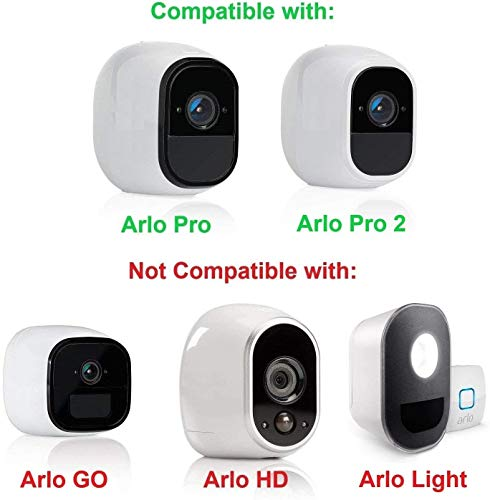 Wasserstein 4 x Silicone Skins with sunroof Compatible with Arlo Pro & Arlo Pro 2 Smart Security - 100% Wire-Free Cameras (Black/Brown/Grey/Blue)