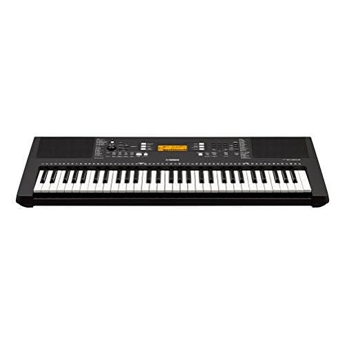 Yamaha Digital Keyboard PSR-E363, Tastiera Digitale Portatile Ottima per Principianti, Design Compatto, con 61 Tasti Dinamici Sensibili al Tocco e Funzioni di Apprendimento, Nero