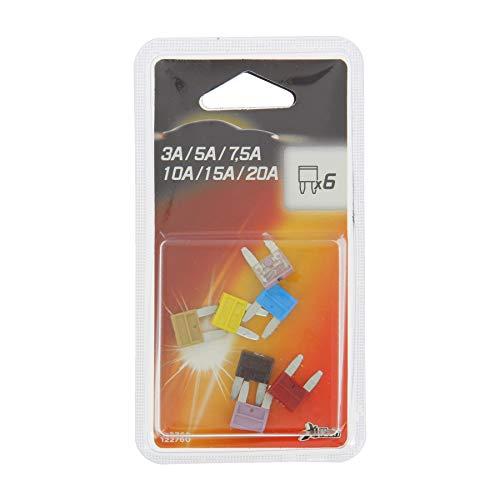 XL Tech 122760 Set de 6 mini-fusibles assortis 3 à 20A