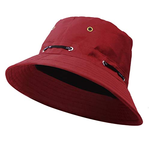NYSYZSM Sombrero de Cubo de Verano para Mujer, Sombrero de Cubo de algodón Plano Unisex para Hombres y Mujeres, Sombrero de Viaje para el Sol, Gorra de Pescador para Hombre y Mujer