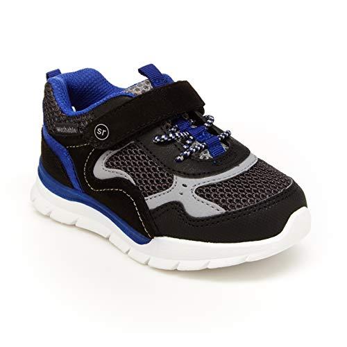 Stride Rite 360 Boy's Nova Athletic Running Shoe, Black/Blue, 11 Little Kid