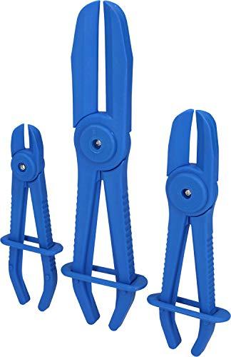 Brilliant Tools BT521010 Kit de Pinces à Clamper Les tuyaux | Droit | 3 pcs, Bleu/Noir