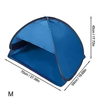 Tente de plage Pop Up - Mini pare-soleil portable - Abri solaire - Protection contre le visage et la tête - Pour protection solaire personnelle (bleu)