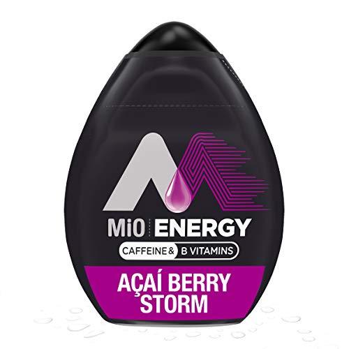 MiO Energy Acai Berry Storm Naturally Flavored Liquid Water Enhancer with Caffeine & B Vitamins (1.62 fl oz Bottle)