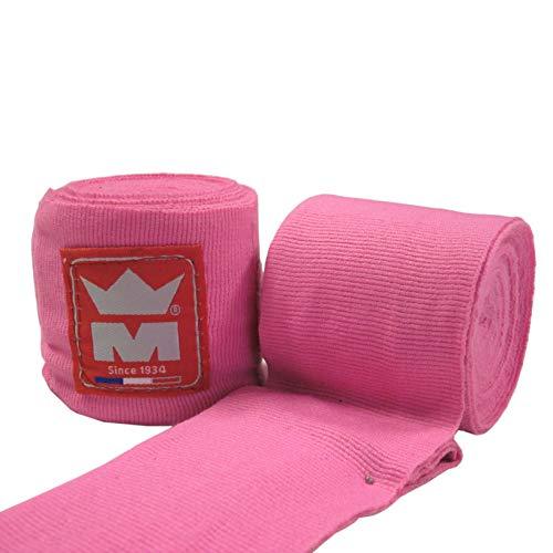 Montana MBB3400 Bandage de Boxe Mixte Adulte, Rose, 400 cm