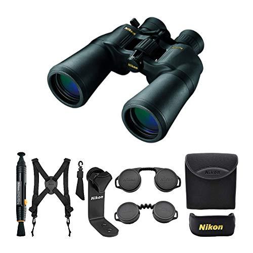 Nikon ACULON A211 10-22x50 Porro Prism Zoom Binoculars (Black) Lens Pen and Harness (3 Items)