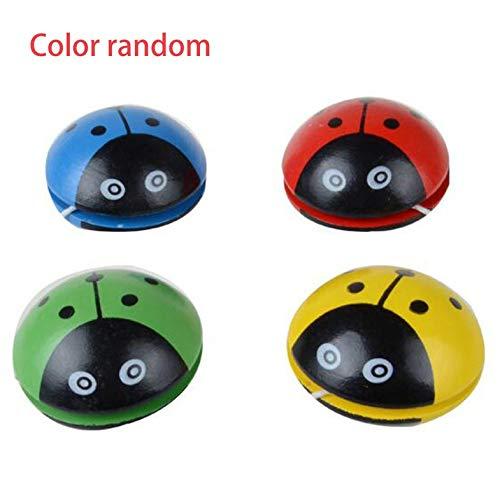 CamKpell Cute Animal De Madera Yoyo Juguetes Ladybug Portátil impresión Yoyo Ball para Niños Desarrollo De Coordinación Mano-Ojo-Aleatorio-1 Tamaño