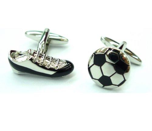 Motif ballon de Football et boutons de manchette de manchette Gemelos 081001–1 Football