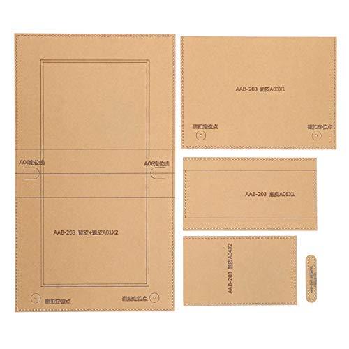 Ledermuster Acryl Vorlage, Clear Craft Acryl Schablone Vorlage, für Brieftasche Verwandte Handtasche Freunde