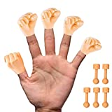 Daily Portable Tiny Hands (Fist Bump) - 5 Pack - Fist Style Mini Hand Puppet + 5X Holding Sticks