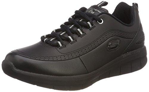 Skechers Women Synergy 2.0 Fashion Sneaker, Black (Black/Black Bbk), 5 UK (38 EU)