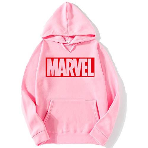 HOSD 2018 New Hoodies Men Long Sleeves Casual Men Sweatshirt Hoodies Marvel Print Hoodie Tracksuits Male 70Pink M