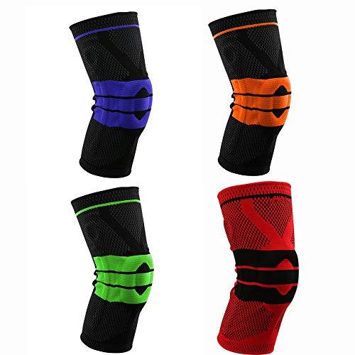Ginocchiere Ginocchiere per pallacanestro Pantaloni sportivi Calzini Cura Protezioni per polpacci Attrezzature per equitazione estiva. per Allenamento e Protezione ( Color : Orange , Size : XL )