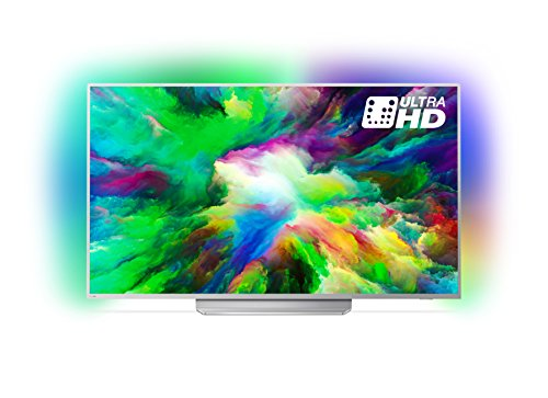 Philips 55PUS7803 TV 55'' 4K UHD Android, Ultra Slim, P5 processor, Titanio