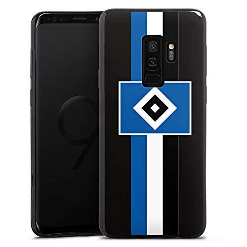DeinDesign Silikon Hülle kompatibel mit Samsung Galaxy S9 Plus Duos Hülle schwarz Handyhülle Hamburger SV transparent HSV