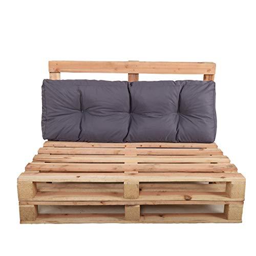 Chicreat - Juego de cojines para muebles de palés para el respaldo, 120 x 40 x 10 20 cm