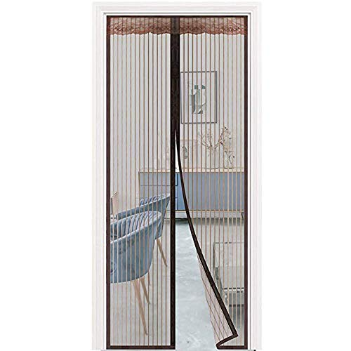 HXPH Fly Screens for Doors,Magnetic Screen Door Fly Curtains for Doorways Mosquito Mesh Doors Easy to Install Without Drilling Seal Automatic for Balcony Sliding100×215cm(39x85inch)