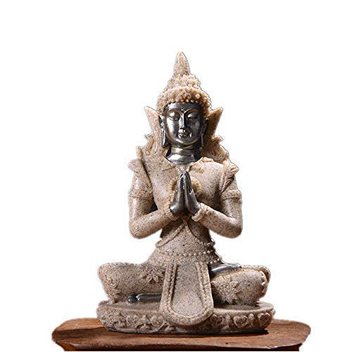 Escultura Decoración De Regalo 16 Estilo Estatua De Buda Naturaleza Arenisca Tailandia Buda Escultura Hindú Fengshui Estatuilla Meditación Decoración Para El Hogar Buda De Arena En Miniatura 131
