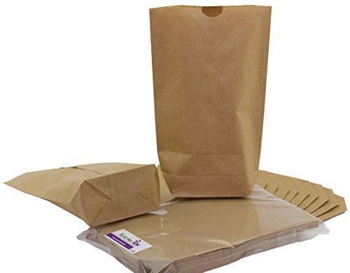 KuschelICH 25 braune Papier-Beutel mit Boden - 16,5 x 26 cm - Tüten aus umweltfreundlichem Kraftpapier - Kreuzbodenbeutel zum Basteln (25 STK.)