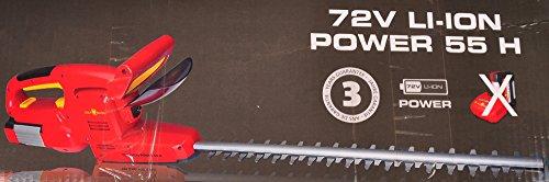 Wolf-Garten 41AG0DO-650 Ion Power 55 H Tagliasiepi 72V (Batteria Non Inclusa), Rosso, 2x2x2 cm