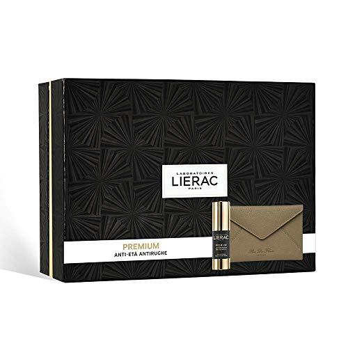 Lierac Cofanetto Premium Yeux Crema Occhi 15ml+ Pochette In Pelle Rue Des Fleurs