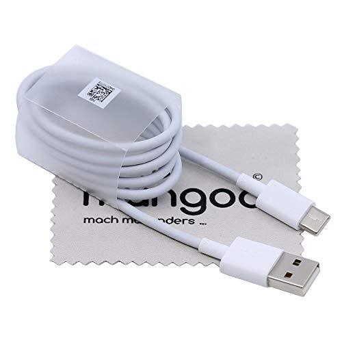 Ladekabel passend für Huawei Honor 8, Honor 9, Honor 10, Honor 20, Honor Play, Honor View 10, Honor View 20 Typ-C Datenkabel 3A 100cm mit mungoo Displayputztuch